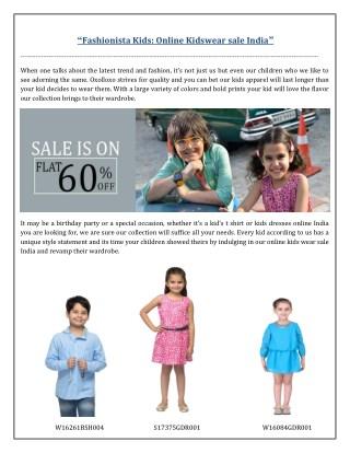 Fashionista Kids- Online Kidswear Sale India