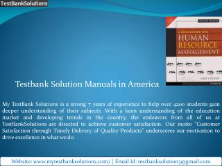 Buy Online Testbank Solution Manuals in America – My TestBank Solutions