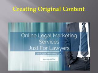 Creating Original Content