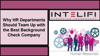Why HR Departments Should Team Up with the Best Background Check Company