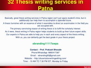 32 Thesis writing services in Patna