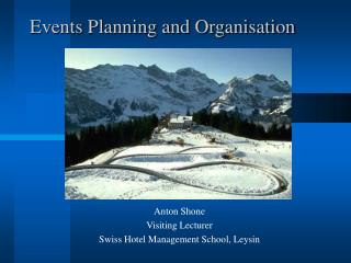 Events Planning and Organisation
