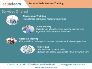 Amazon Web Services Training