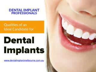 4 Qualities of a Good Dental Implant Candidate