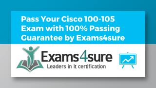 100-105 Dumps With 100% Passing Guarantee
