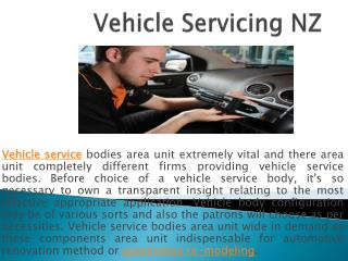 Vehicle Servicing NZ