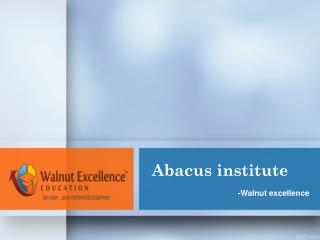 Best Abacus Institute in india-Walnutexcellence
