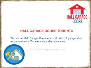 Residential & Commercial Garage Door Repair Toronto | 416-639-2446