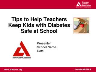 Tips to Help Teachers Keep Kids with Diabetes Safe at School
