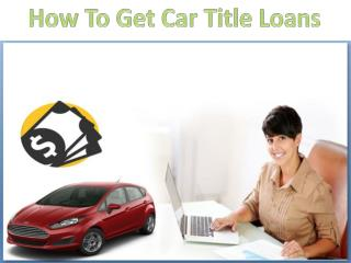 Easy and fast way to get rid of bad credit car loans
