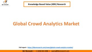 Global Crowd Analytics Market to reach a market size