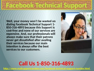 Are Facebook Technical Support 1-850-316-4893 techies affable in nature?