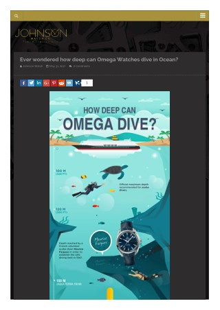 Omega Watches- Dive in Ocean