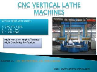 CNC Vertical Lathe Machine Manufacturer in India
