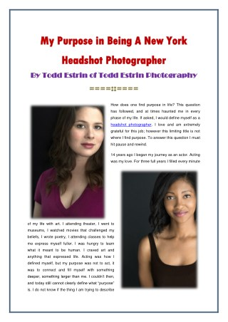 New York Headshot Photographer