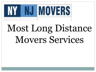 Most Long Distance Movers Services