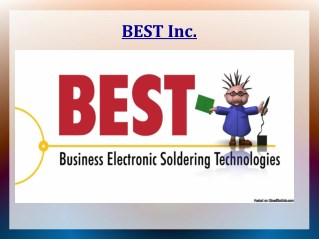 Solder Training at BEST Inc