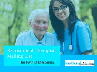 Recreational Therapists Mailing List
