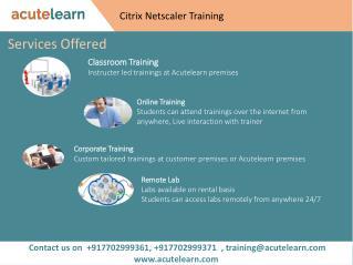 Citrix Netscaler Training