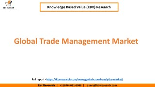 Global Trade Management Market Size