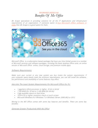 Benefits Of MS Office