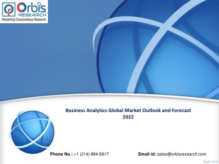 Business Analytics-Global Market to forecast 2022