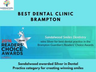 Sandalwood Smiles Dentistry is Best Dental Clinic in Brampton