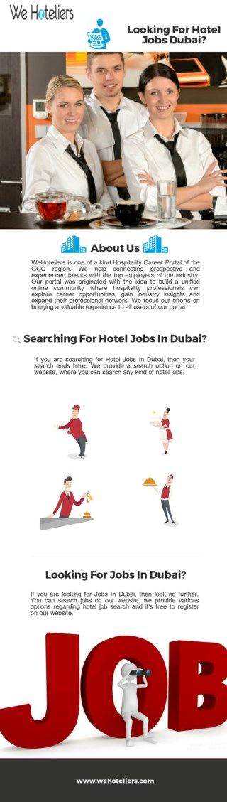 Looking For Hotel Jobs Dubai According To Qualifications?