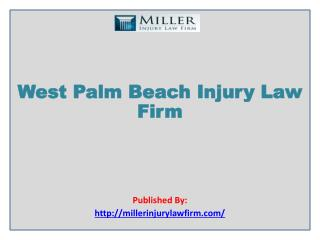 West Palm Beach Injury Law Firm