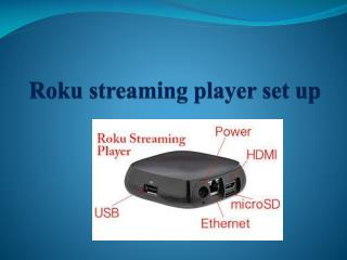 Roku Streaming Player Setup