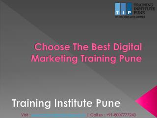 Digital Marketing Training Institute Pune | Digital Marketing Courses in Pune