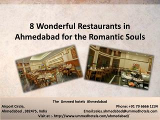 8 Wonderful Restaurants in Ahmedabad for the Romantic Souls