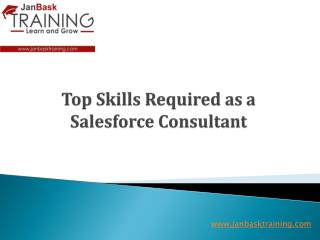 Top Skills Required as a Salesforce Consultant