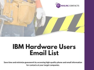 IBM Hardware Users Email List