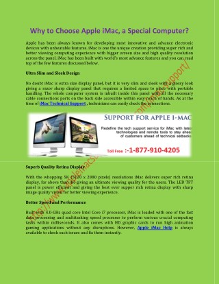 iMac Technical Support