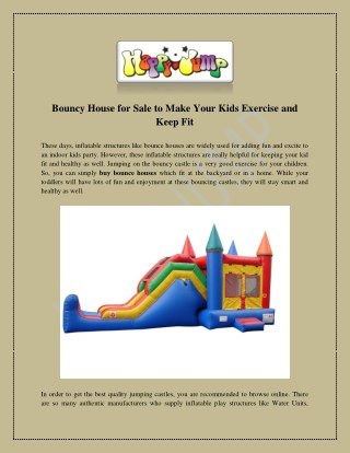 Bouncy house for sale, bounce house by happyjump.com