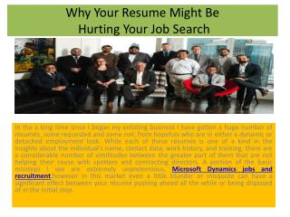 Why Your Resume Might Be Hurting Your Job Search