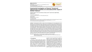 Experimental Investigation on Physical, Thermal and Spectroscopic Properties of 2-Chlorobenzonitrile: Impact of Biofield