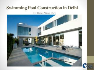 Swimming Pool Construction in Delhi