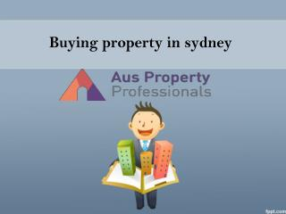 buying property in Sydney