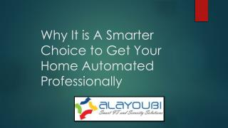 Home automation system in Dubai