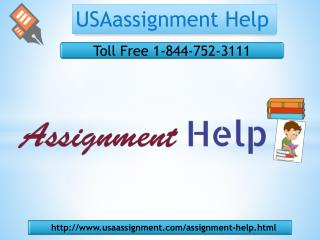 Assignment help Toll Free:1-844-752-3111