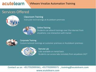 VMware Vrealize Automation Training