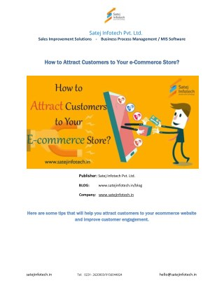 How to Attract Customers to Your e-Commerce Store?
