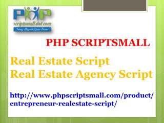 Real Estate Script | Real Estate Agency Script