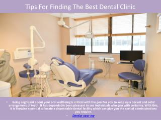 Tips For Finding The Best Dental Clinic