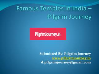 Famous Temples in India – Pilgrim Journey