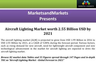Aircraft Lighting Market worth 2.55 Billion USD by 2021