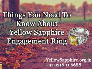 Things you need to know about yellow sapphire engagement ring