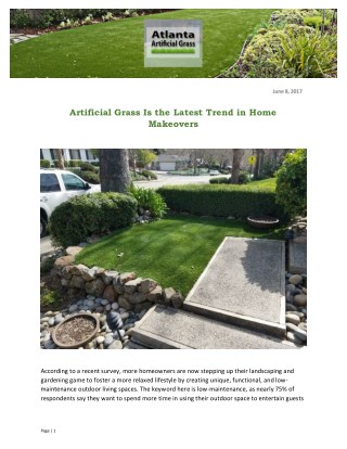 Artificial Grass Is the Latest Trend in Home Makeovers